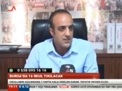 Şube Başkanımız Özkan RONA Bursa As TV Ana Haber Bülteninde Değişen Üniversite Giriş Sınavını Değerlendirdi.