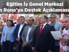 EĞİTİM İŞ ÖZKAN RONA'YA YAPILAN SALDIRIYI PROTESTO ETTİ